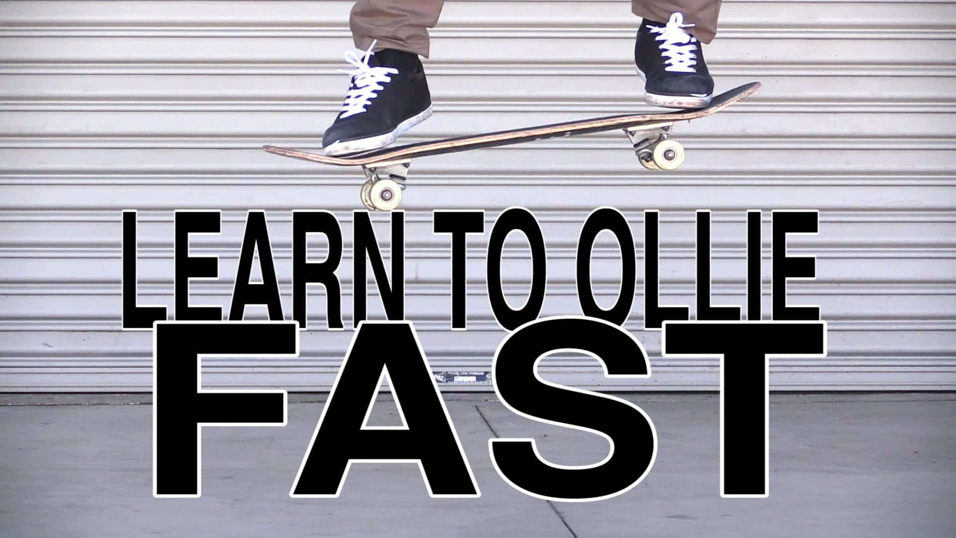 how to ollie manual on a skateboard