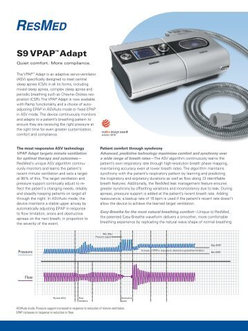 resmed vpap adapt sv clinician manual