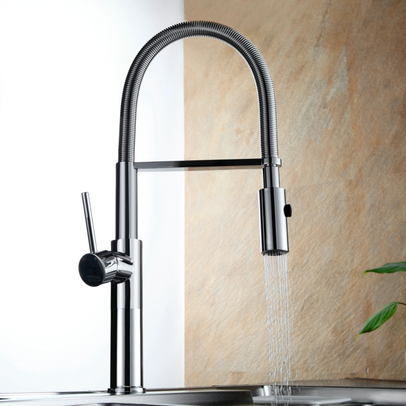 swivel pull out down kitchen mixer manual