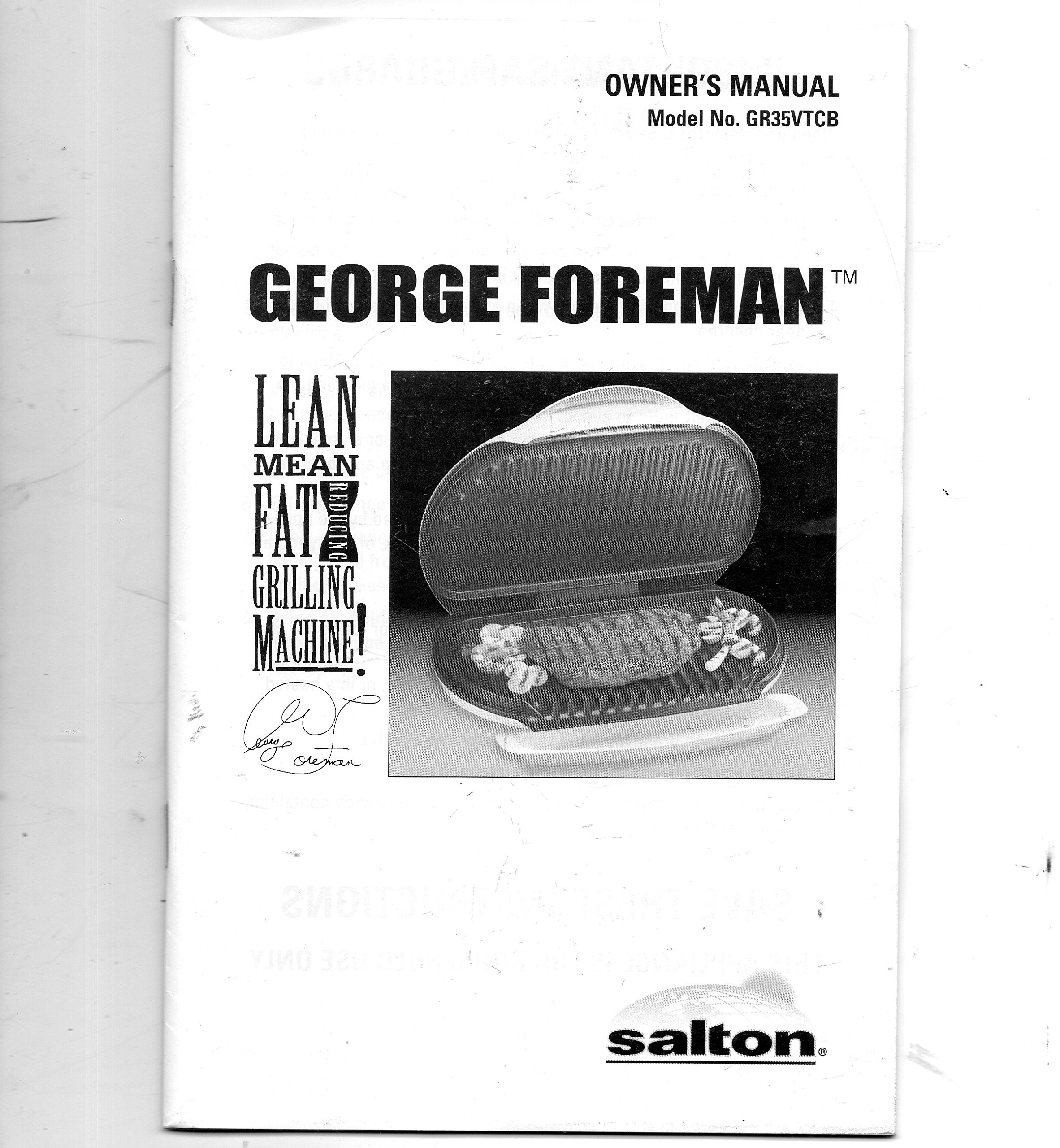 george foreman grill manual gr10a