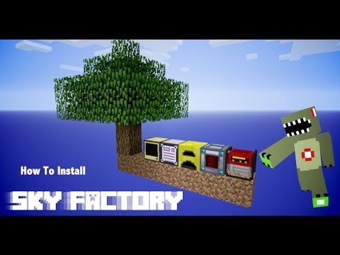 how to install sky factory 3 manually