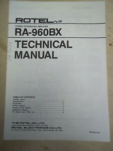 rotel rb 1050 service manual
