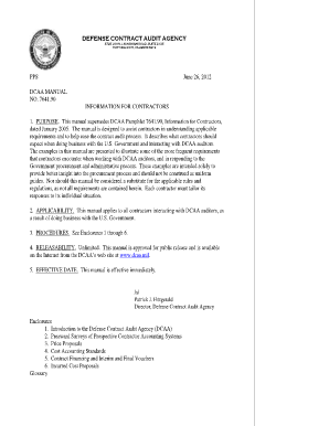dcaa contract audit manual at section 6 410