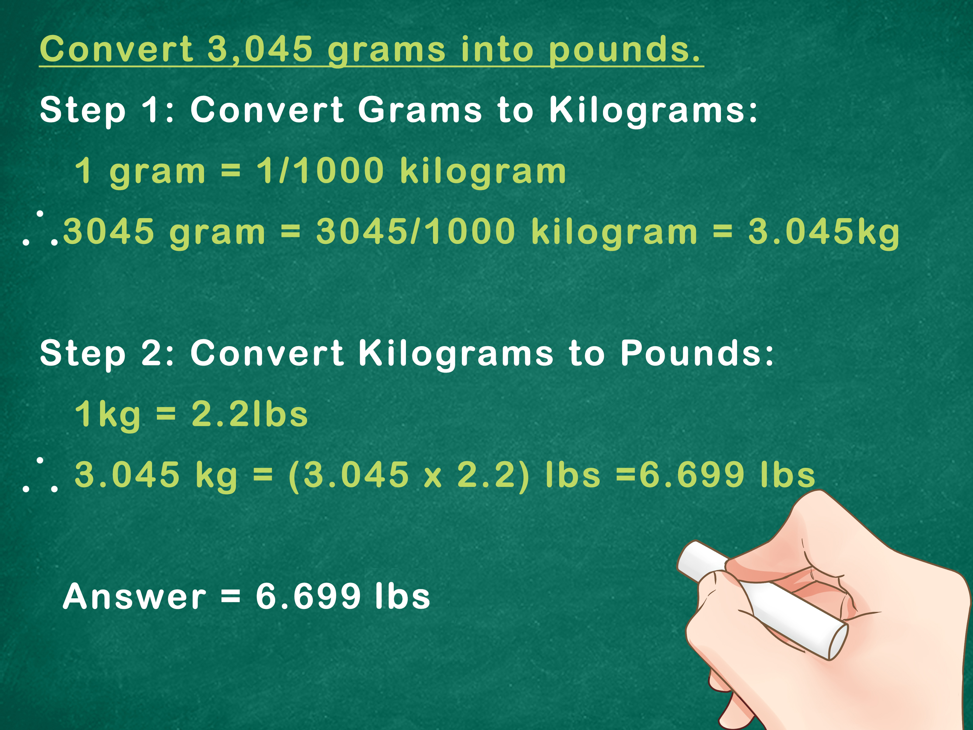 how to convert kilos to pounds manually