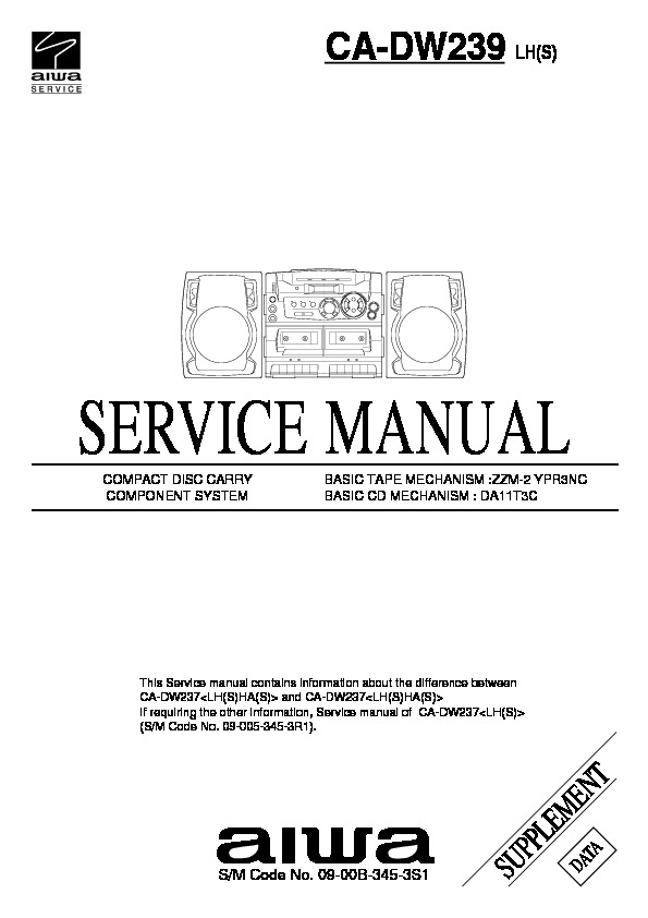 aiwa ca 30 service manual