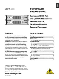 behringer europower ep2000 service manual