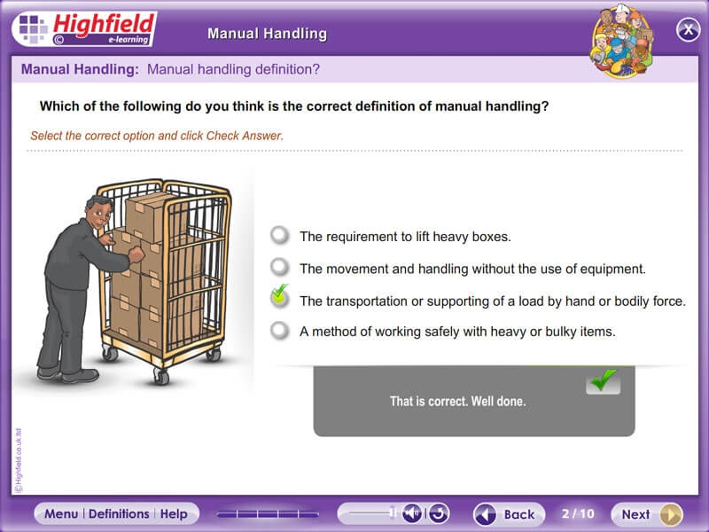 aveling manual handling for healthcare