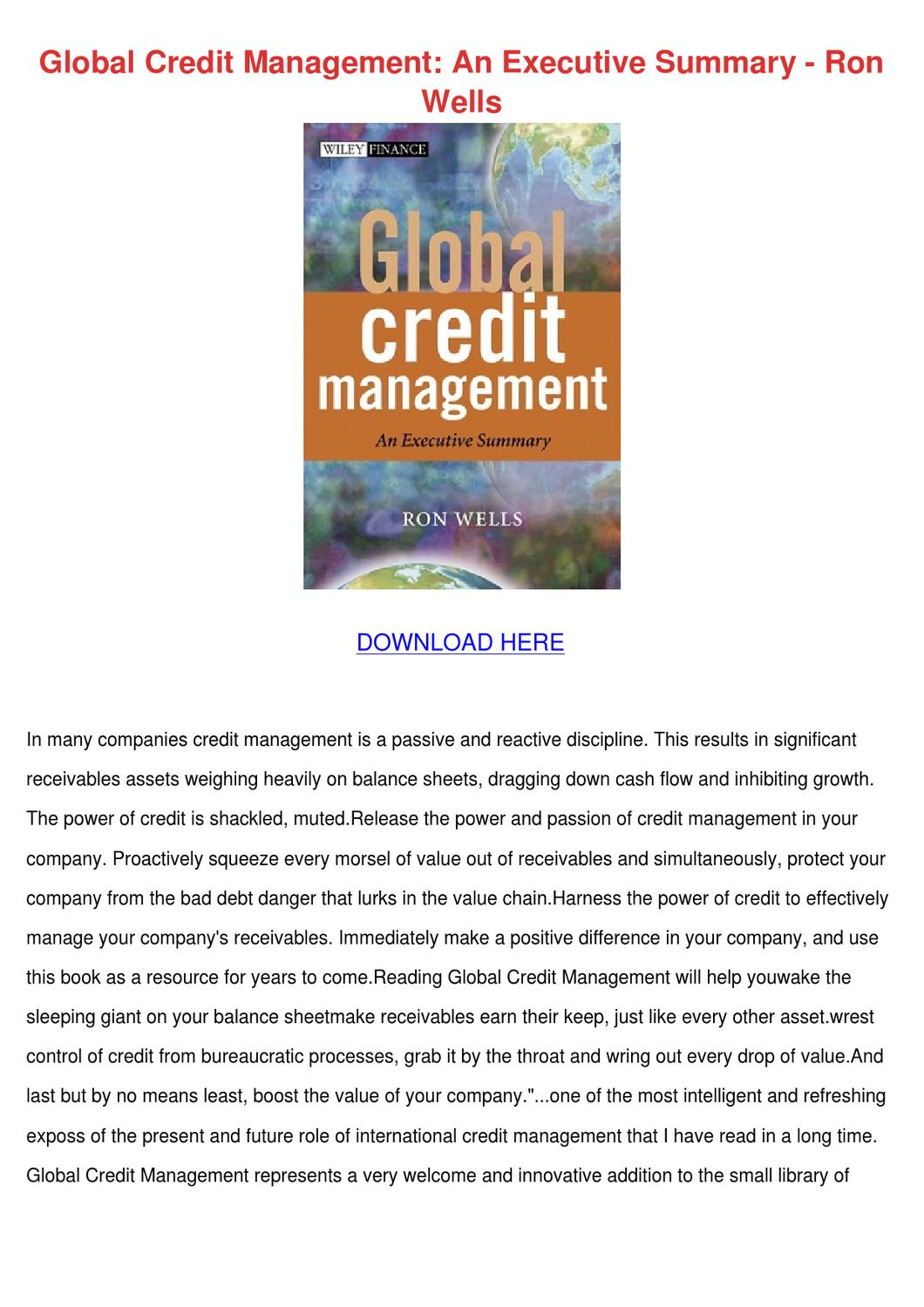 manual overview by a credit manager