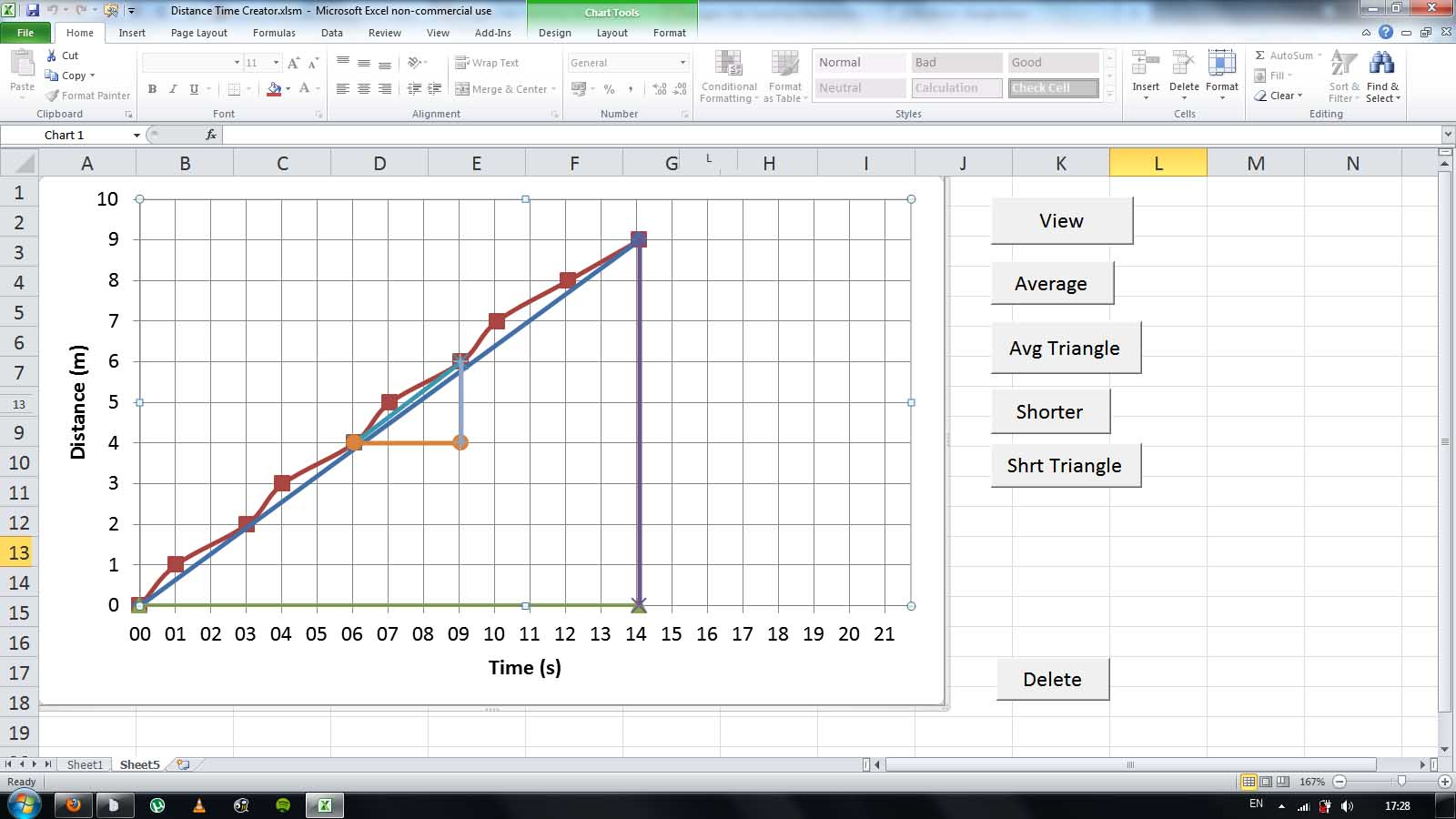 excel how to manually change graph values