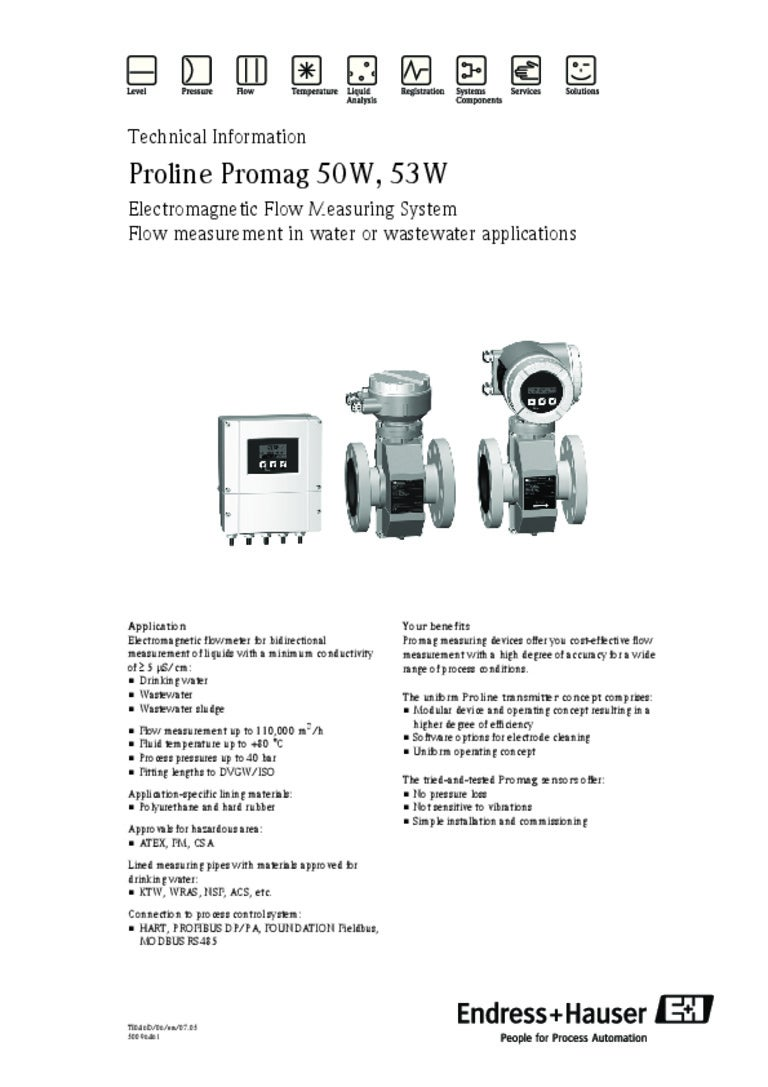 endress hauser promag 50 manual pdf