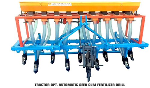 manually operated automatic seed drill