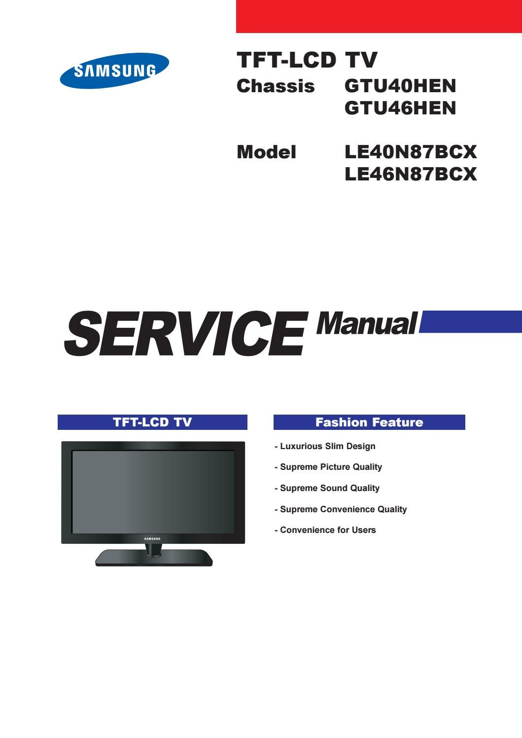 manual for samsung tv la37c650