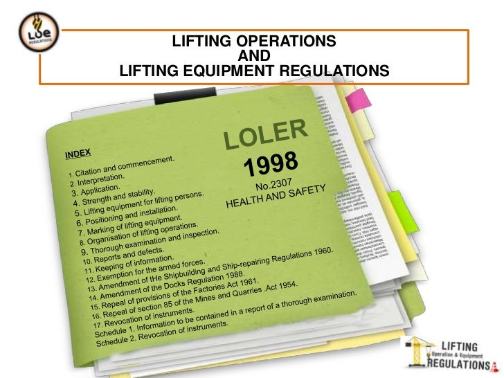 manual handling operations regulations legislation