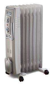 bionaire 1500w 7 fin oil filled radiator with manual thermostat