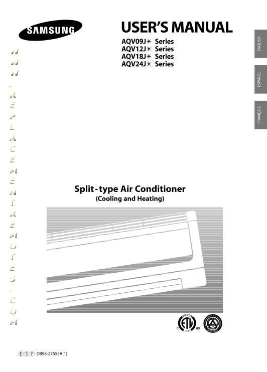 samsung split air conditioner manual pdf