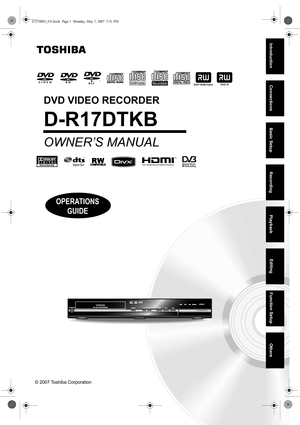toshiba dr410 dvd recorder user manual