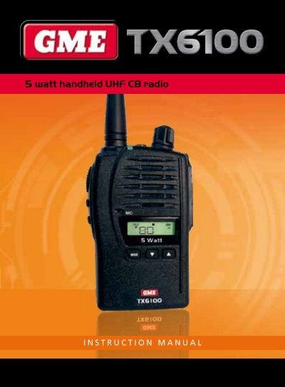gme tx4000 uhf radio manual