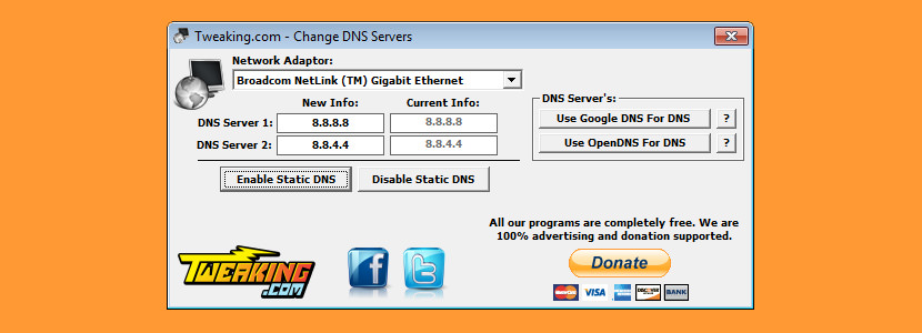 how to manually change ip an dns