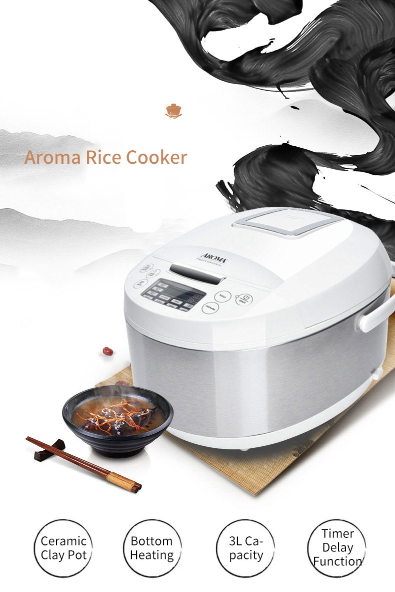 aroma 12-cup digital rice cooker and food steamer manual
