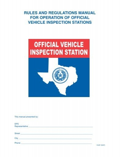 official inspection station manual pei