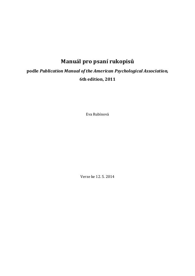 publication manual of the american psychological association 6th ed amazon