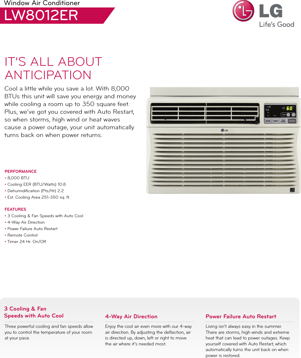 lg lw8012er air conditioner manual