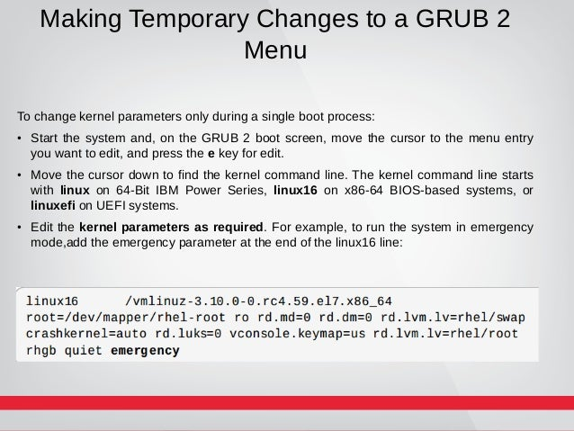 how to manually boot kernel
