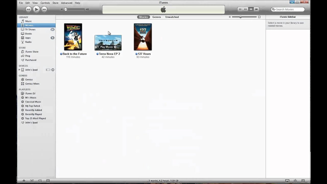 add a tv show to itunes manually