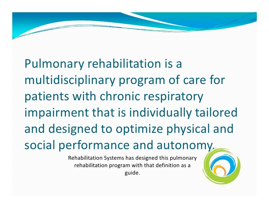 a manual for pulmonary rehabilitation