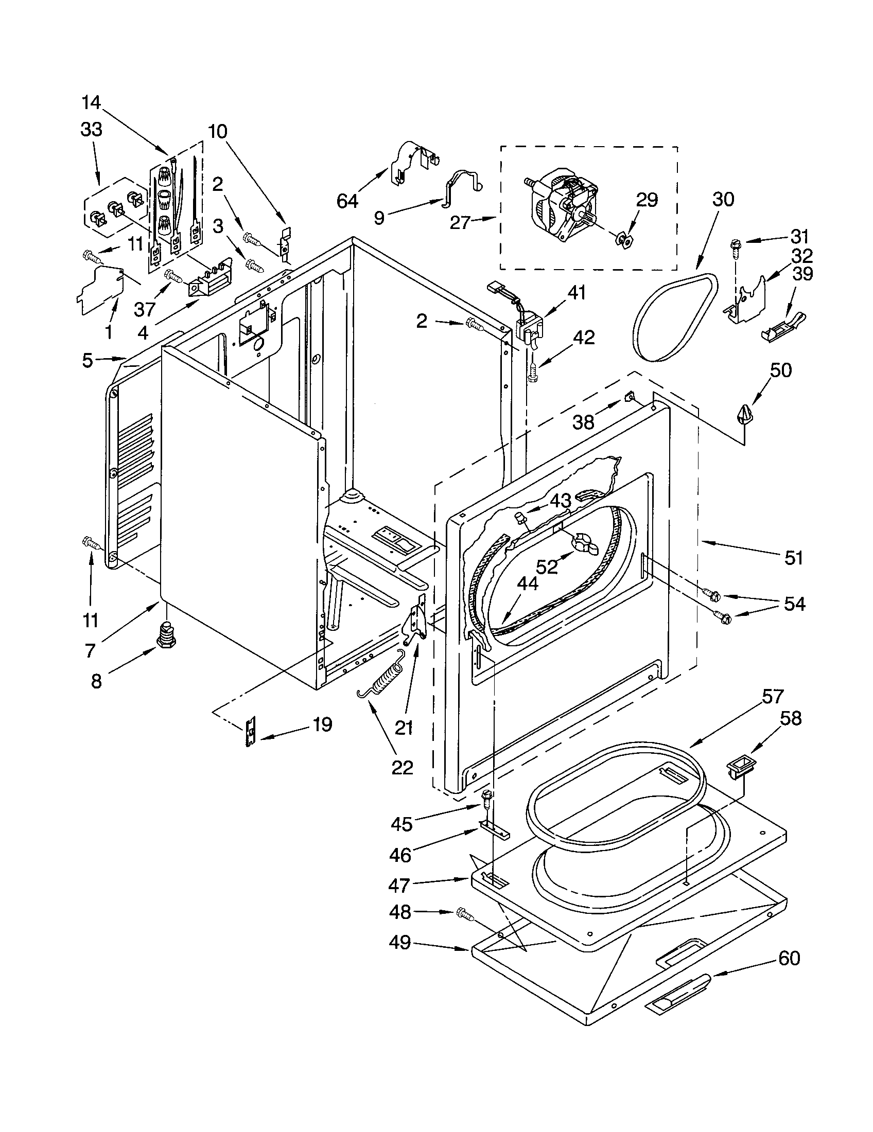 kenmore 700 series washer repair manual