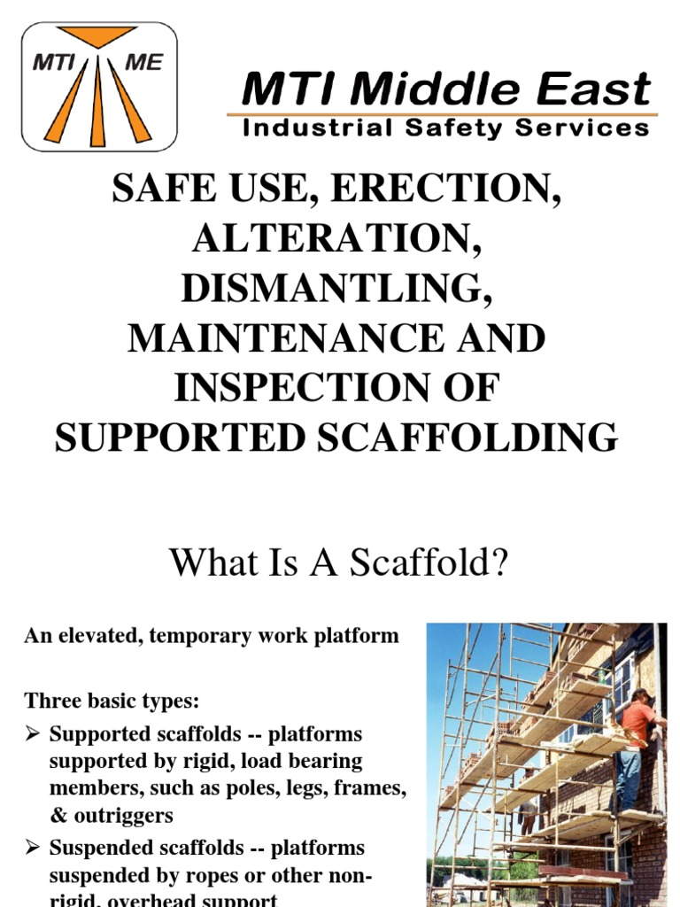 advanced scaffolding training manual pdf