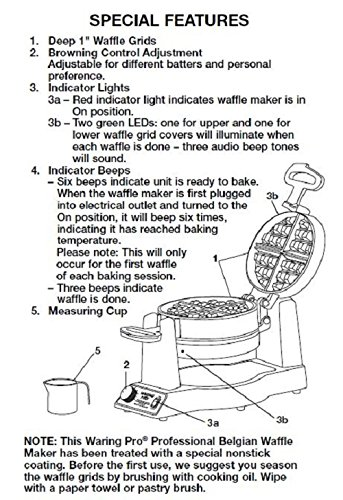 all clad round waffle maker instruction manual