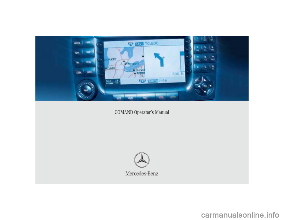 mercedes a class 2005 owners manual