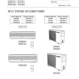 sanyo air con sap-c4261 manual