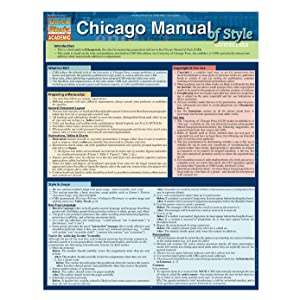 chicago manual of style quickstudy guide
