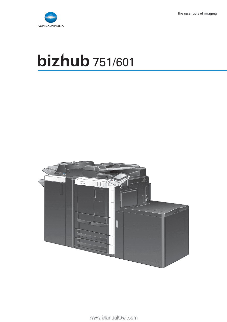 konica minolta bizhub 600 user manual