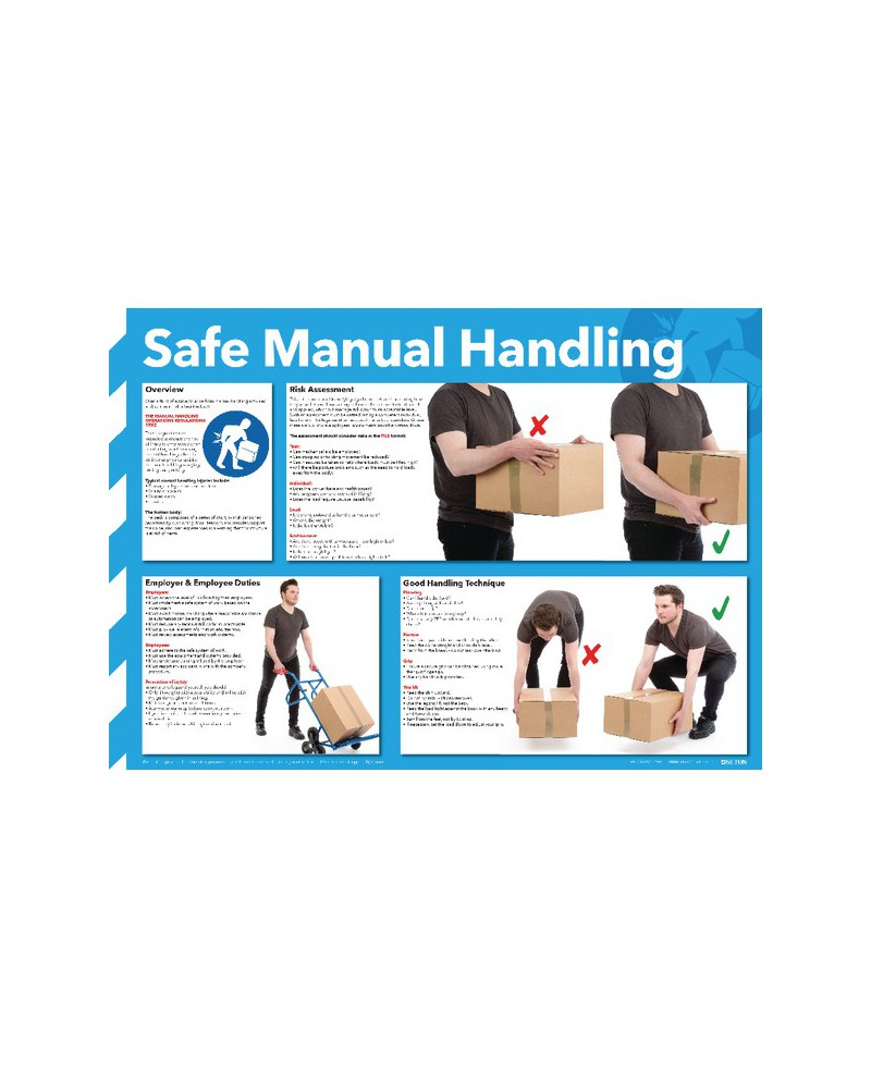 manual handling onsite safety poster