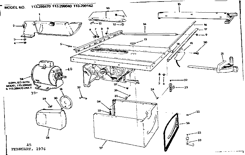 sears 14 inch bandsaw manual
