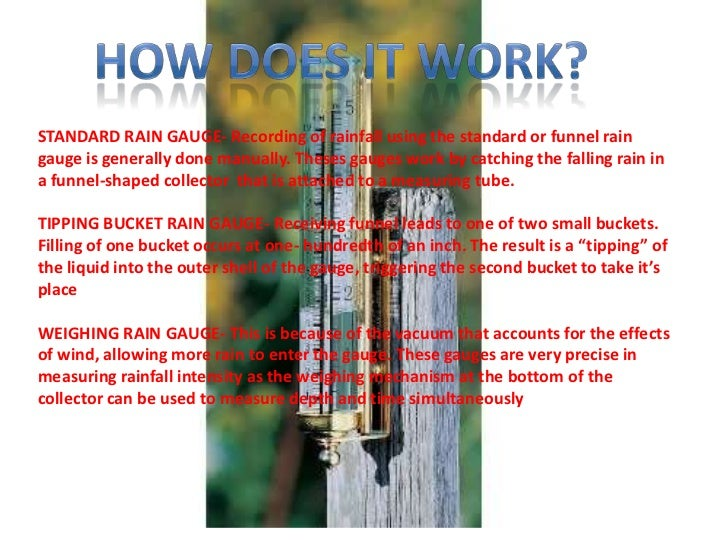 how to measure rainfall manually