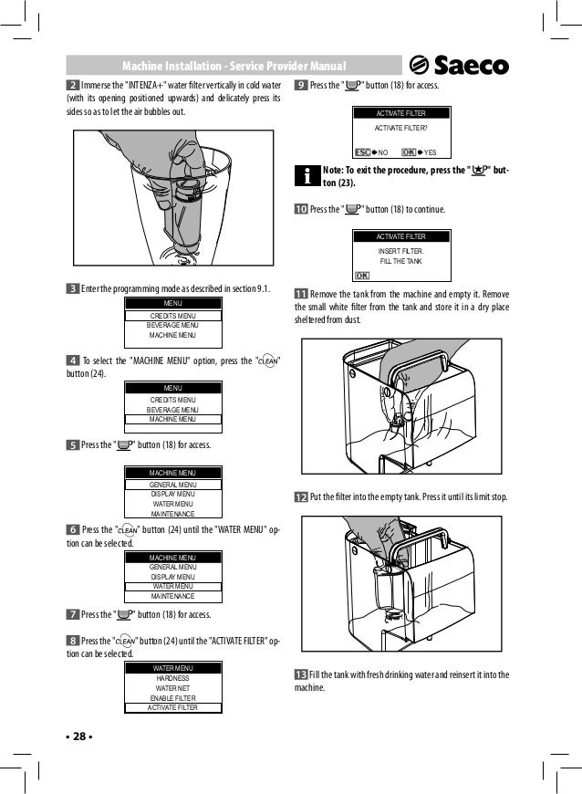 saeco royal cappuccino user manual ventilate