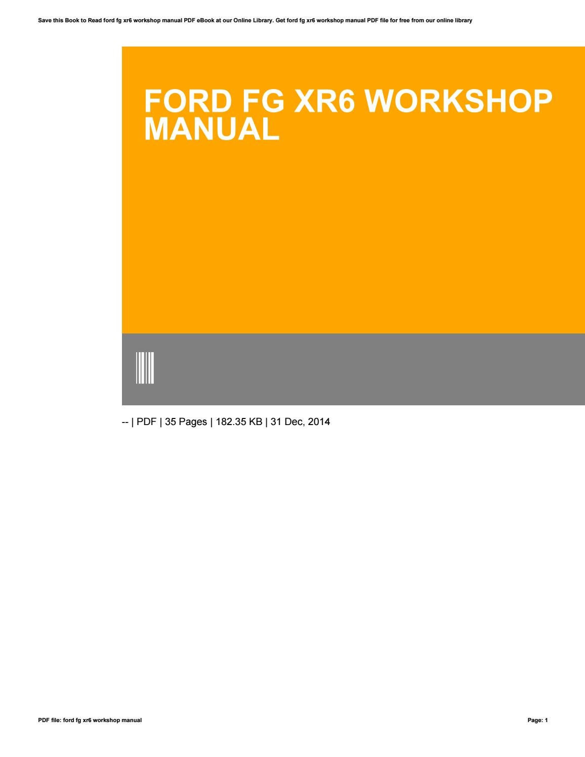fg mkii xr6 workshop manual