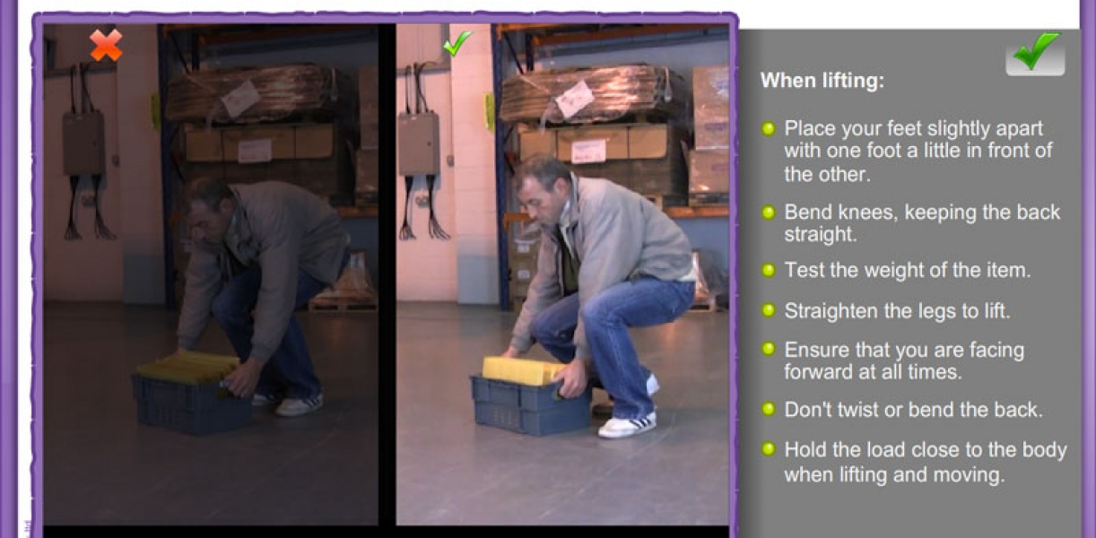 free e-learning manual handling course