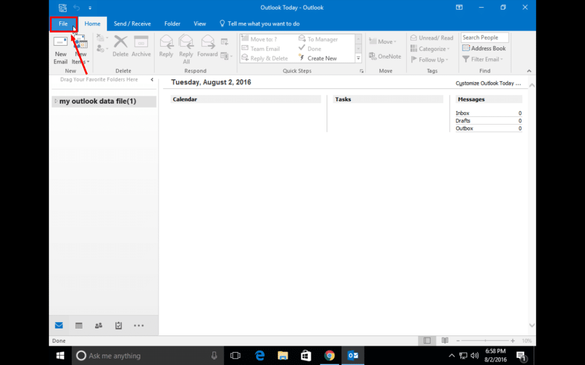 gmail manual settings for outlook 2013