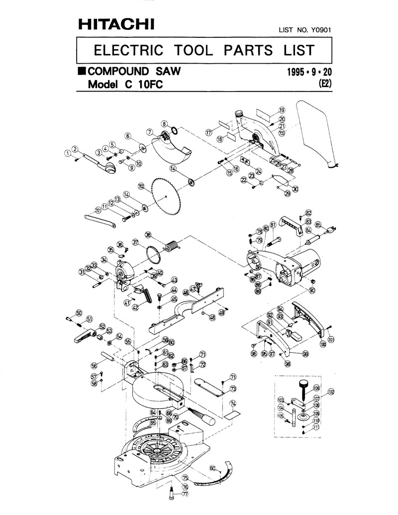 hitachi c8fb2 miter saw manual