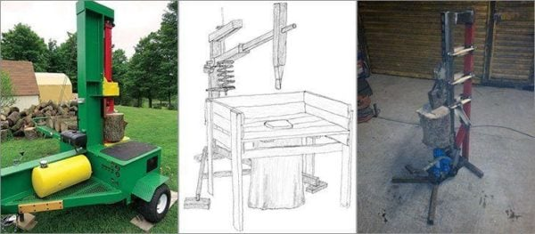 how to build a manual log splitter free plans