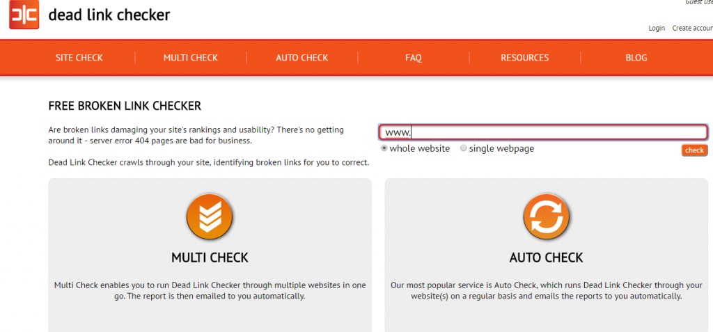 how to check broken links manually