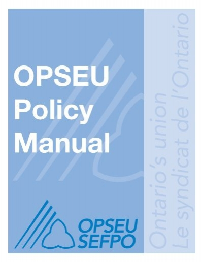 hr policy manual section 8