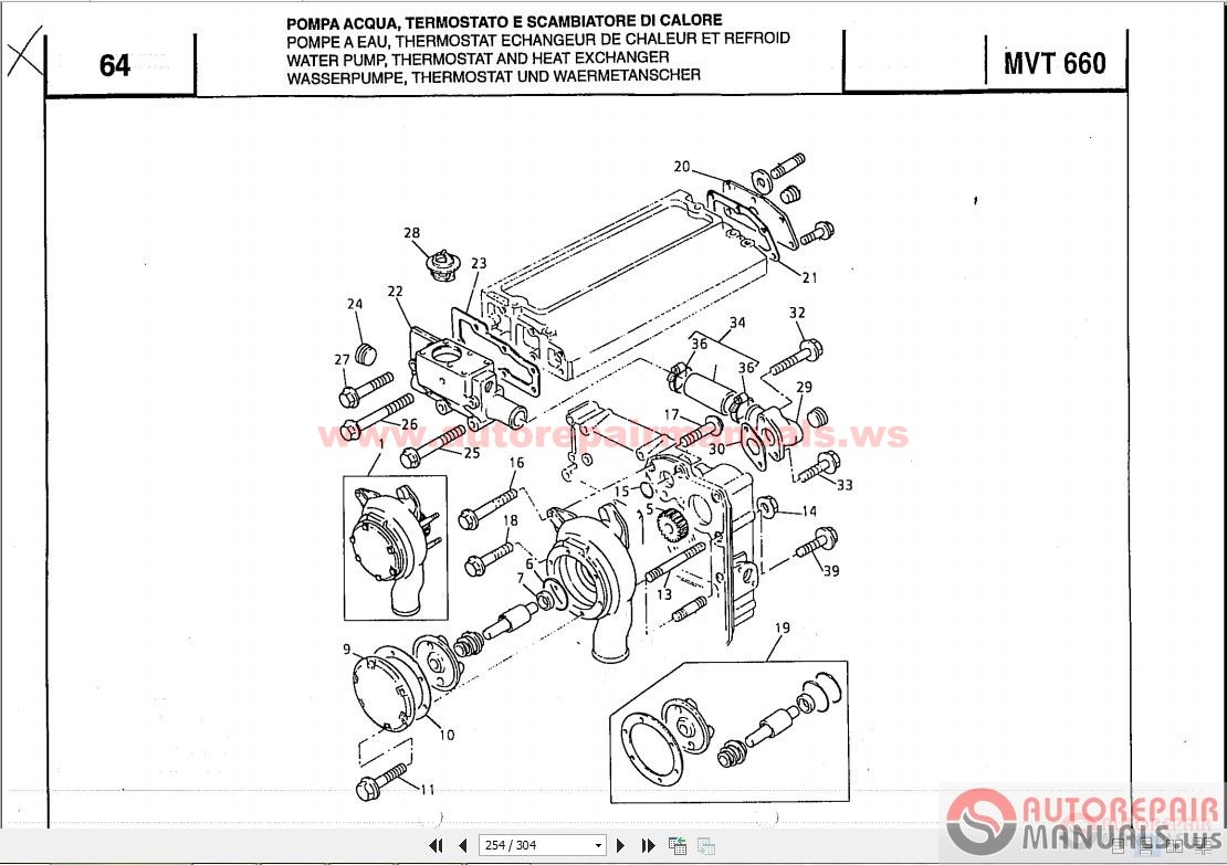 manitou mh25-4t parts manual
