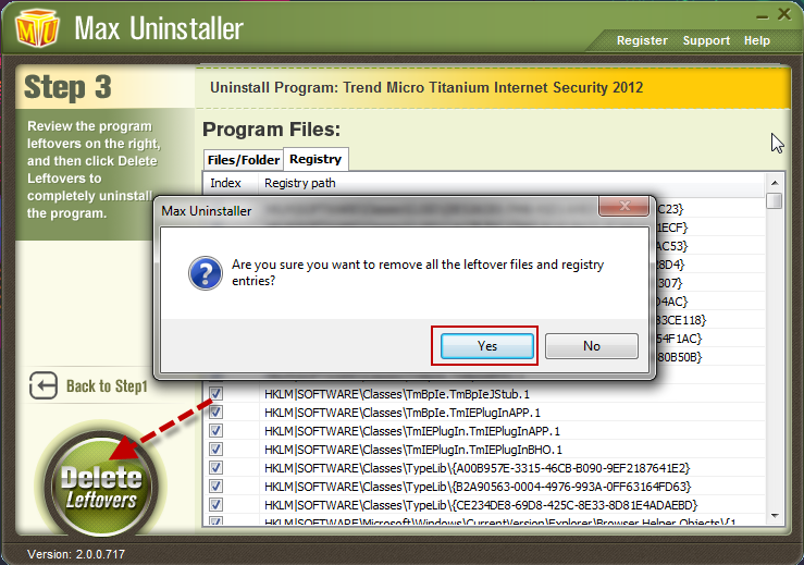 manually uninstalling trend micro security agent