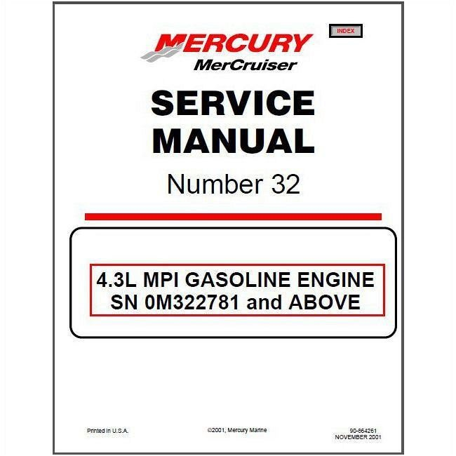 mercrusier 4.3l mpi parts manual